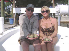 Skip and ME scalloping in Steinhatchee