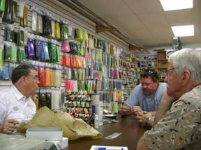 Bob LeMay teaches fly tying at the Fly                   Shop in Fort Lauderdale
